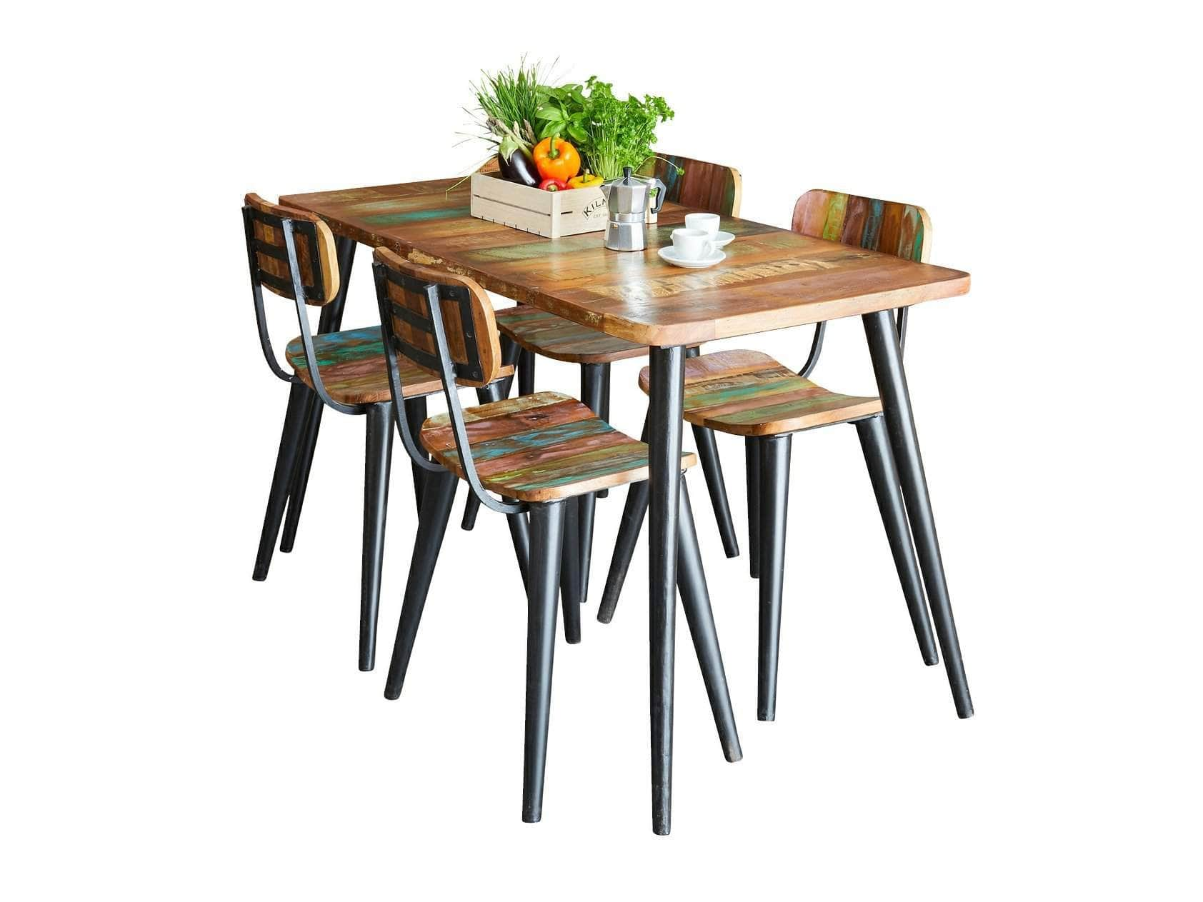 Large Chamba Indian Boat Wood Dining Table ...