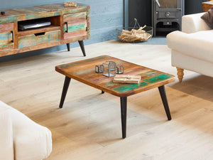Chamba Indian Reclaimed Boat Wood Coffee Table