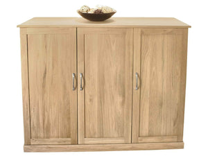 Extra large solid oak shoe cabinet for up to twenty pairs of shoes