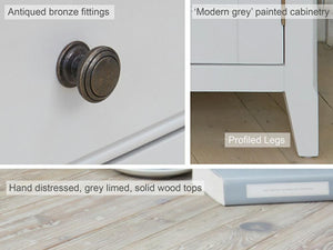 Farmhouse Grey Painted Storage Bench