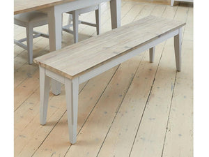 Farmhouse Grey Painted Dining Bench
