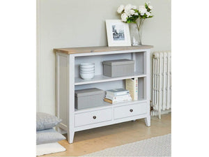 Farmhouse Grey Painted Bookcase