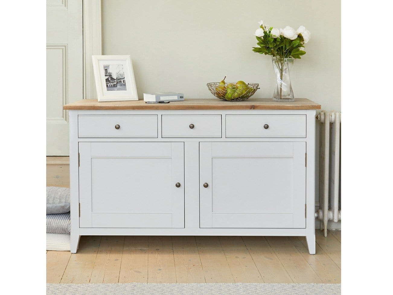 Farmhouse Grey Rustic Sideboard