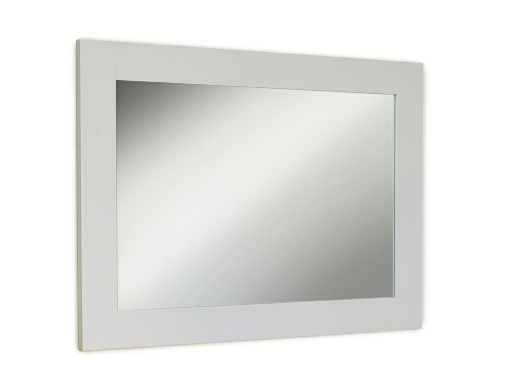 Large grey painted mirror