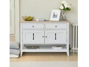 Farmhouse Grey Painted Console Table