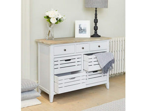 Farmhouse Grey Storage Unit