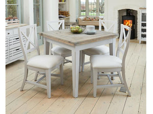 Farmhouse Grey Painted Dining Chairs - Set of 2