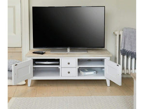 Farmhouse Grey Painted TV Unit