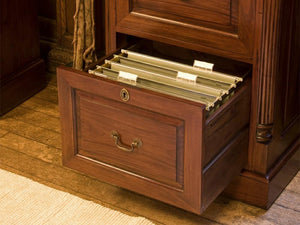 Laddingford Mahogany Filing Cabinet - Three Drawer