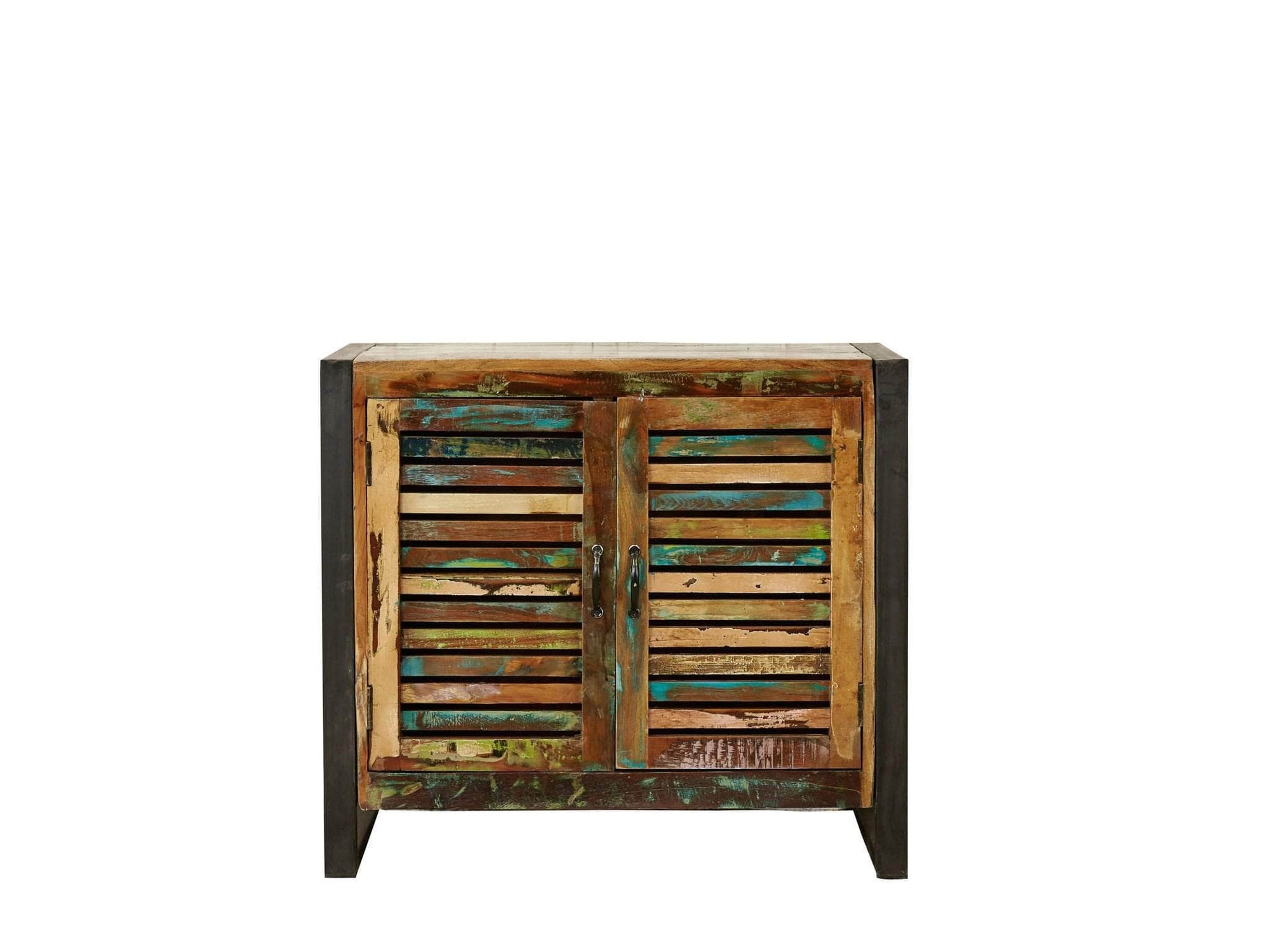 Small reclaimed wood sideboard with double doors