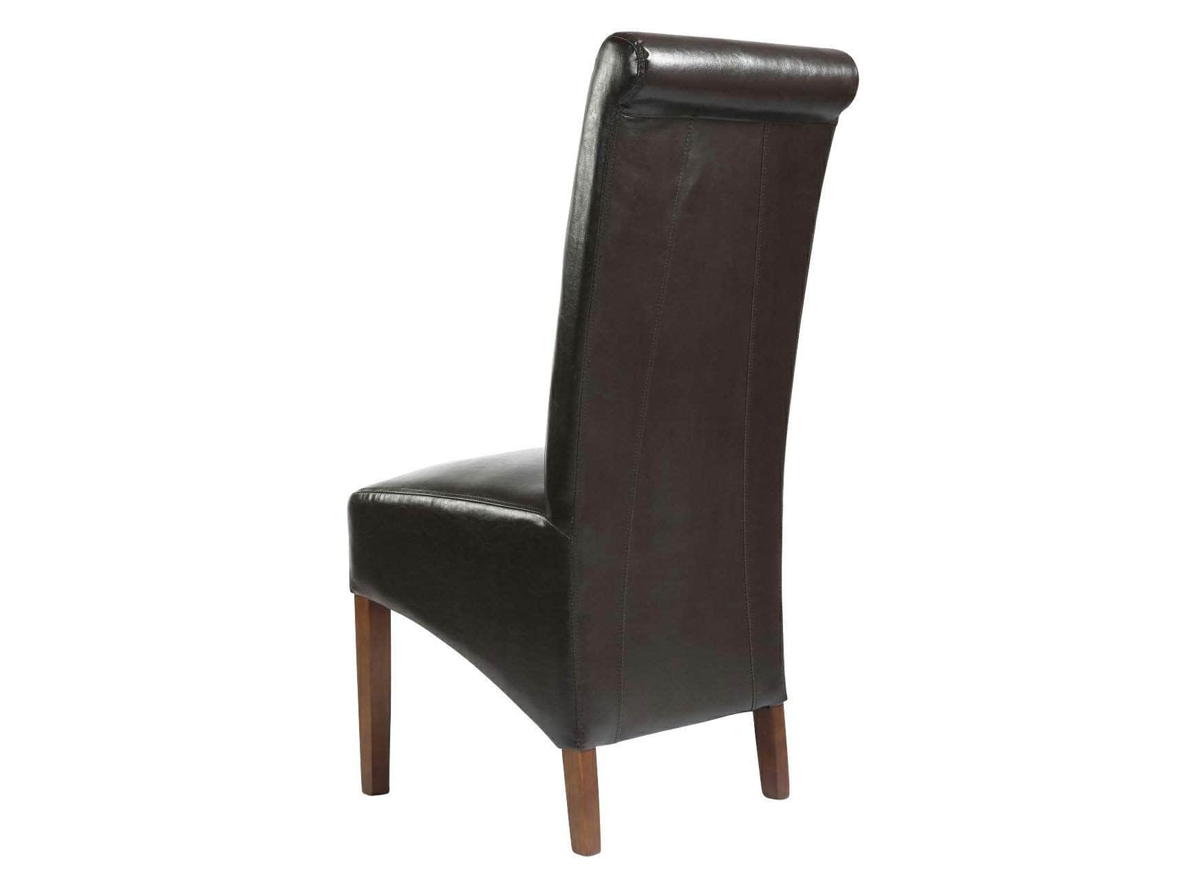 Krista Leather Bonded Dining Chairs Unni Evans # Meuble Krista