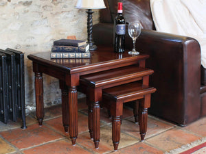 Laddingford Solid Wood Mahogany Nest of Tables