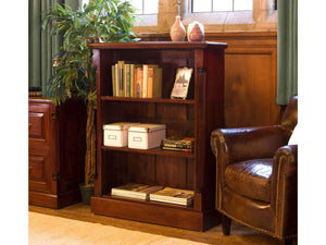 Laddingford Solid Wood Mahogany Low Open Bookcase