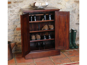 Mahogany shoe cupboard