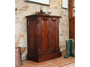 Laddingford Solid Wood Mahogany Shoe Cupboard