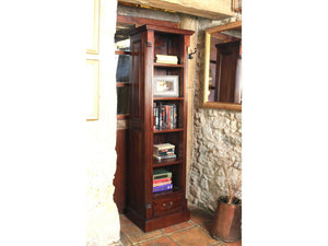 Laddingford Solid Wood Mahogany Narrow Alcove Bookcase