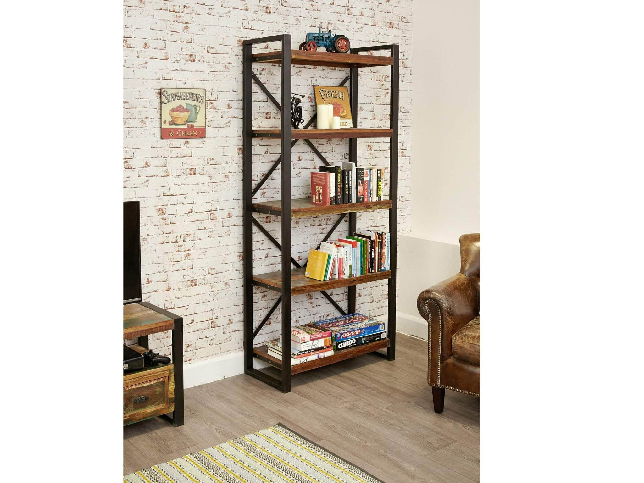 Large Reclaimed Wood Bookcase Unni Evans