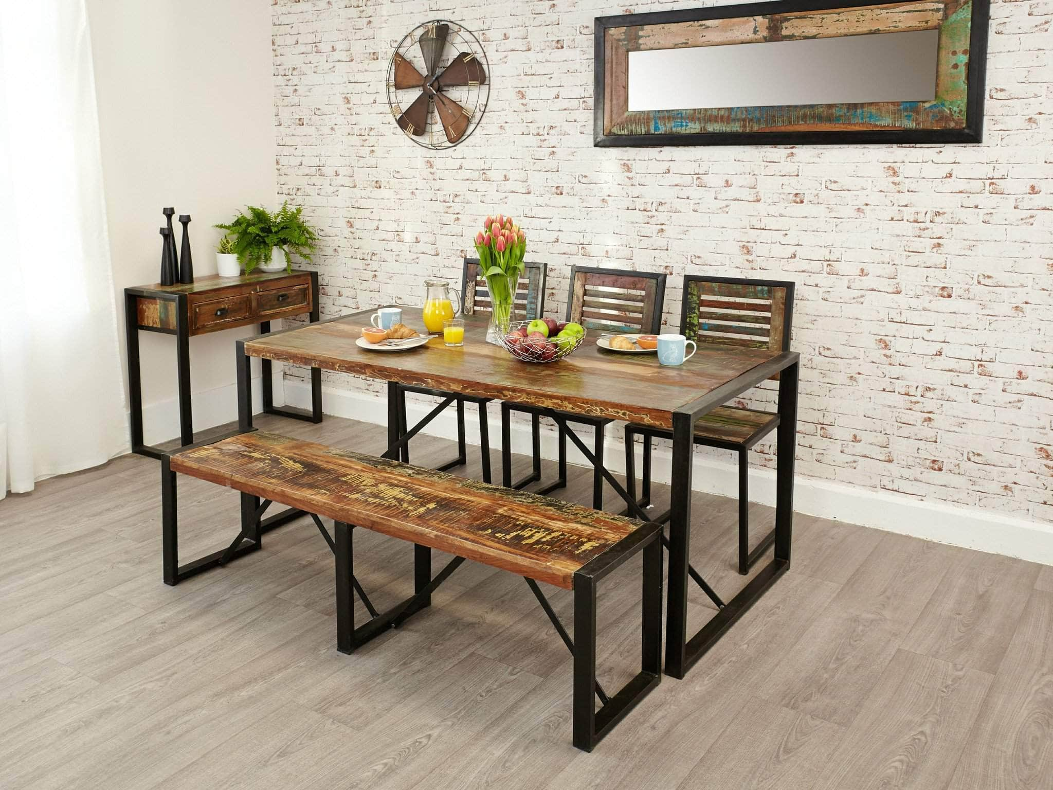 Asia Reclaimed Wood Dining Bench   Large