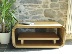 Lichfield designer style solid oak TV table or coffee table