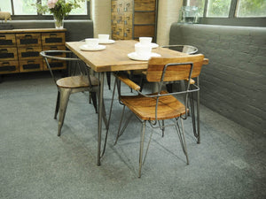 Alternative dining chair and table available separately