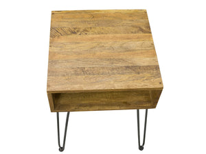London Side Table with Hairpin Legs