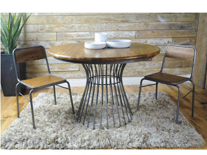 London Industrial Round Bistro Dining Table