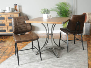 London Small Industrial Dining Table