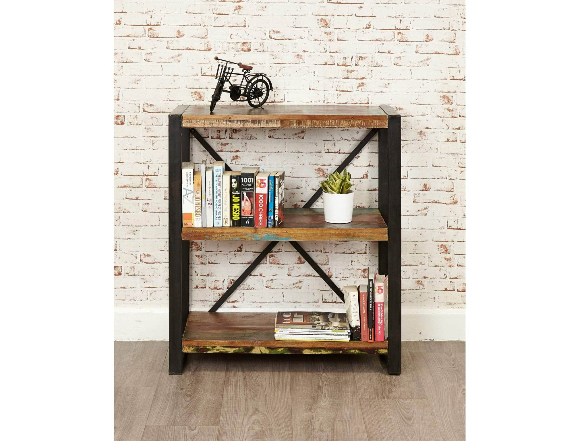 Small Reclaimed Wood Bookcase Unni Evans