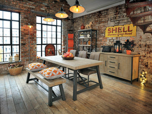 Loxton Industrial Style Extending Dining Table