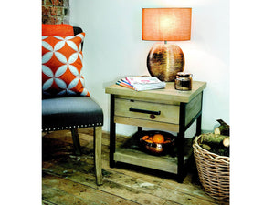 Loxton industrial style lamp table
