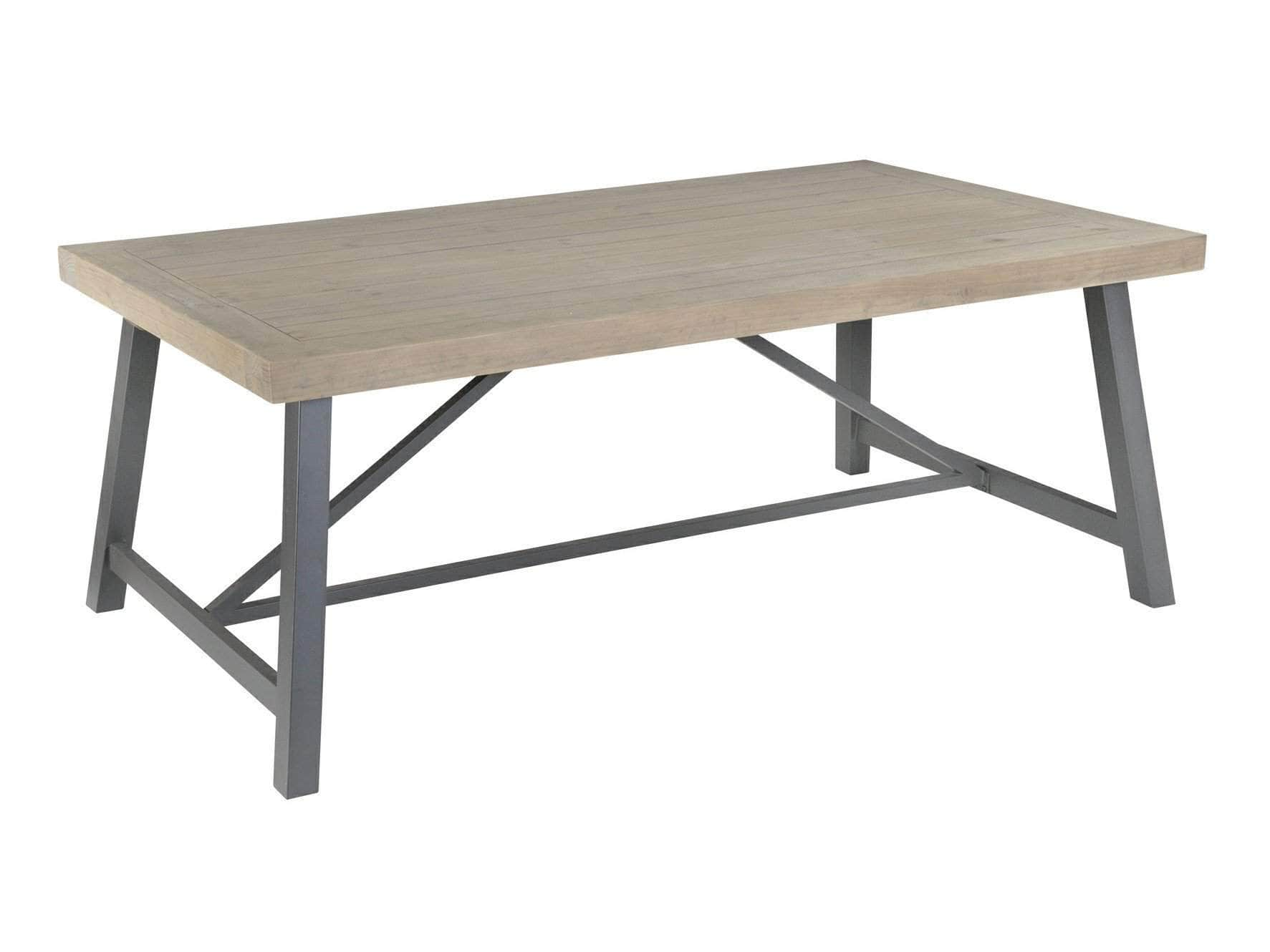 Large extending dining table in an industrial style design