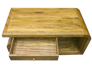 Latchley Curved Mango Wood Coffee Table