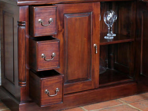Laddingford Mahogany Display Cabinet