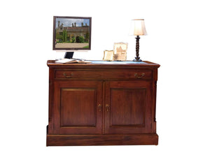Hidden desk suitable for small home office or living area, made from solid mahogany