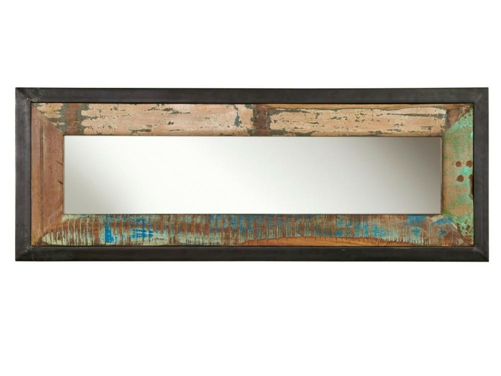 Wide and narrow reclaimed wood mirror
