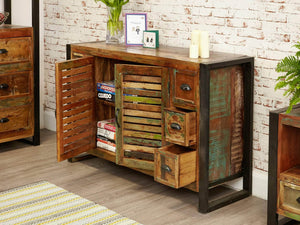 Asia Reclaimed Wood Sideboard - Mid-Sized