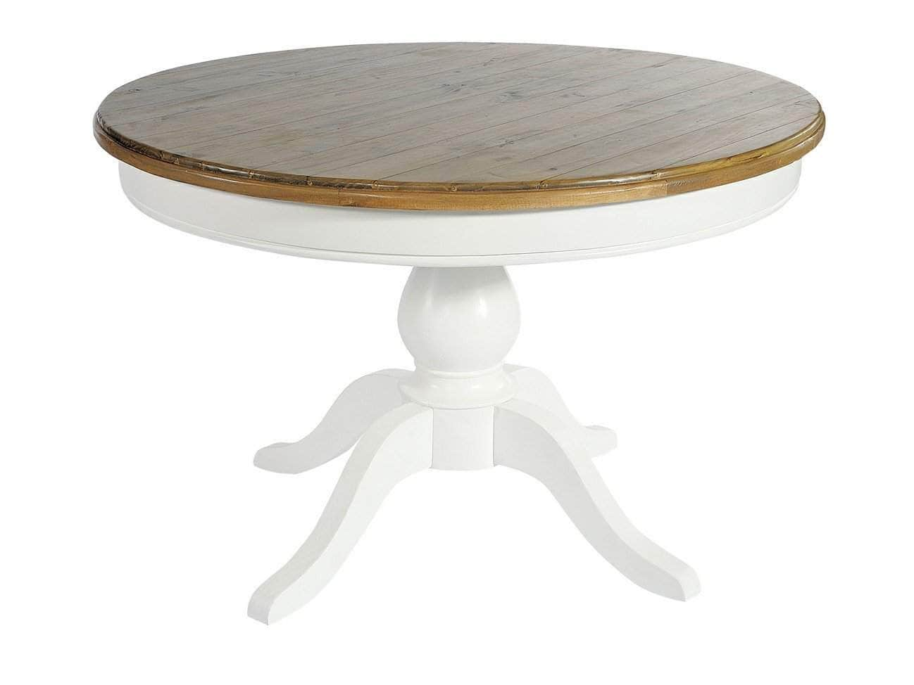 White Painted Round Farmhouse Dining Table Greenway Furniture