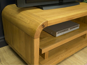 Lichfield Curved Solid Oak TV Stand
