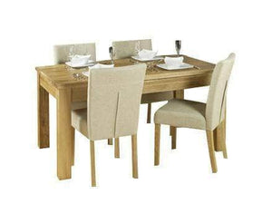 Obell solid oak dining table, extendable to two metres, for up to eight people