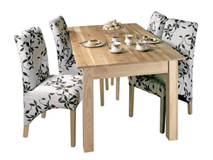 Large solid oak dining table for up to six people