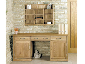 Solid oak wall rack - desk available separately