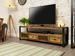 Asia Reclaimed Wood TV Stand - Large