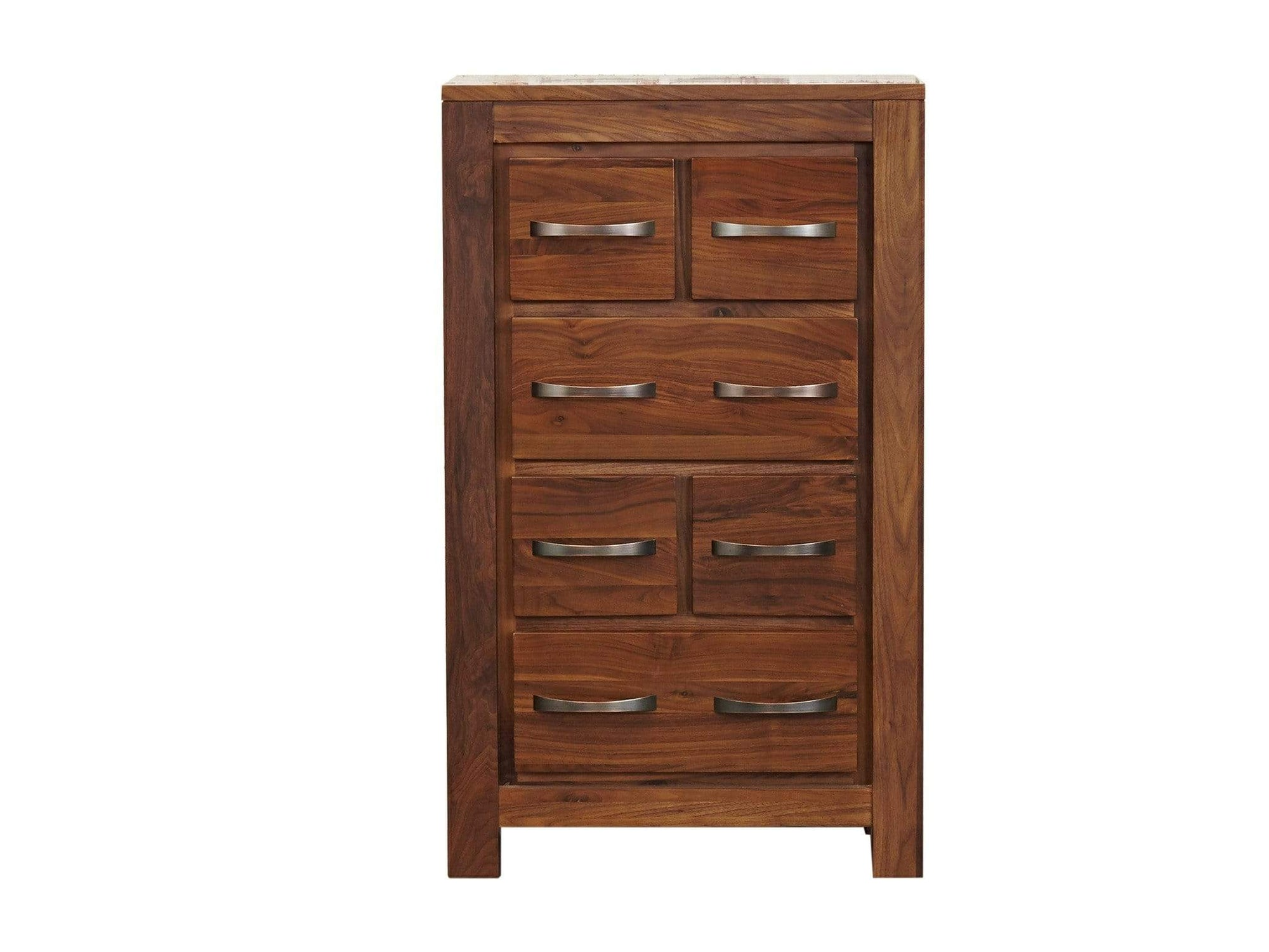 Chest of drawers for CD and DVD storage. Crafted from walnut wood.