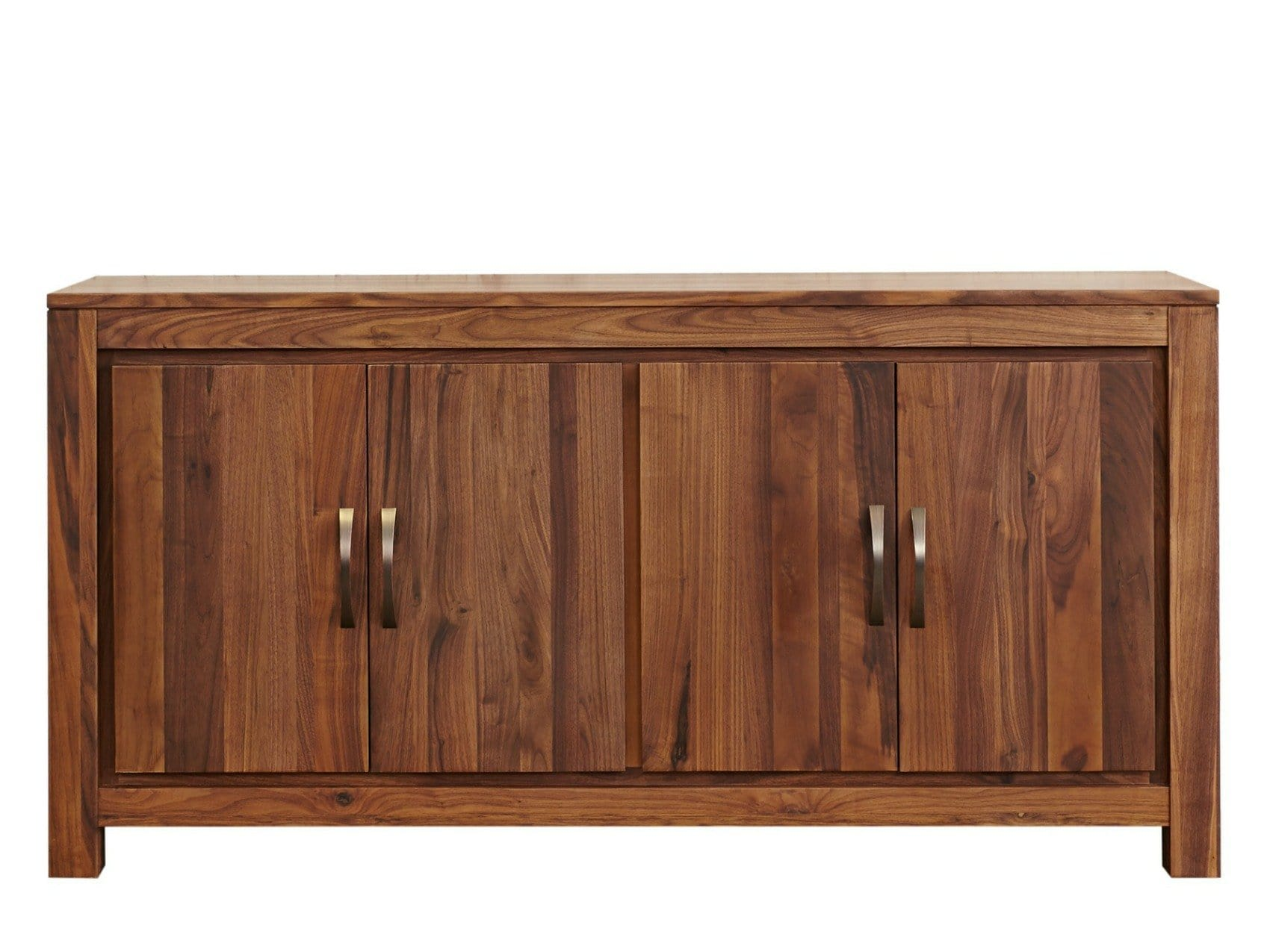 Large dark wood sideboard with two double doors and cupboards