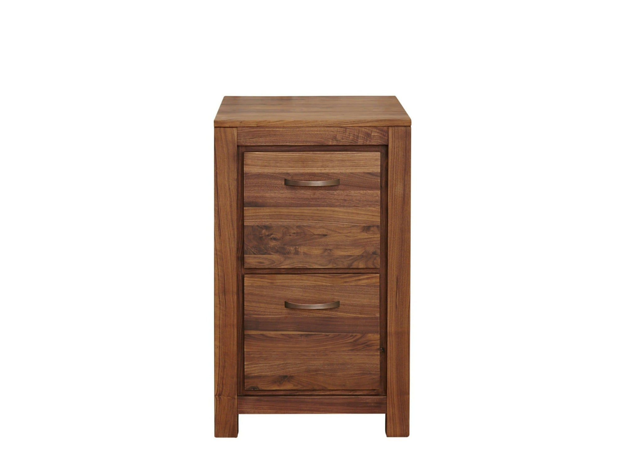 Orsina low height, two drawer walnut filing cabinet
