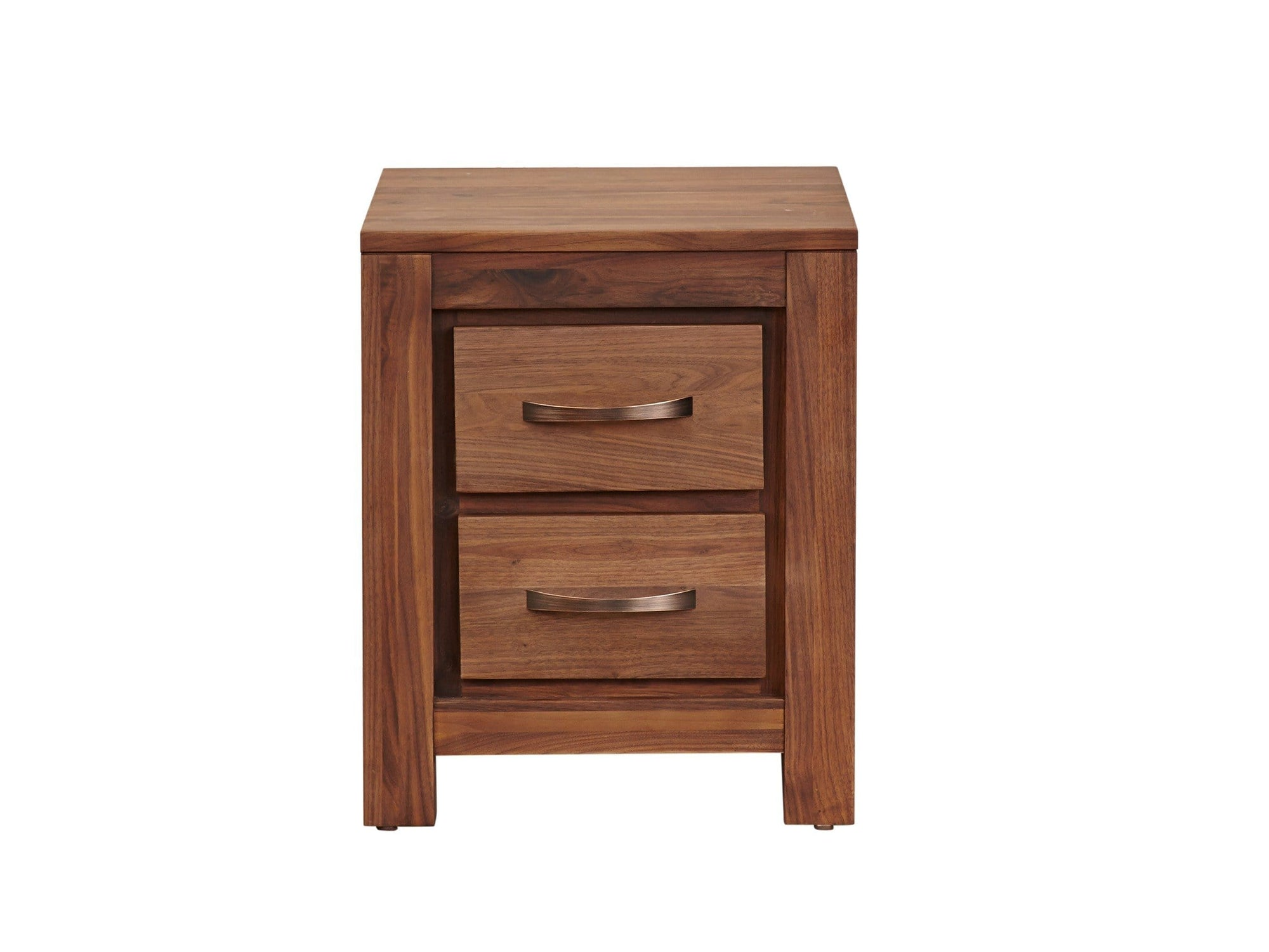 Orsina two drawer solid walnut side table