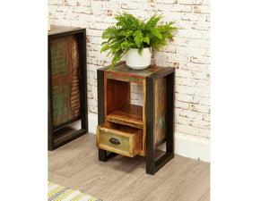 Asia Reclaimed Wood Lamp Table / Bedside Table