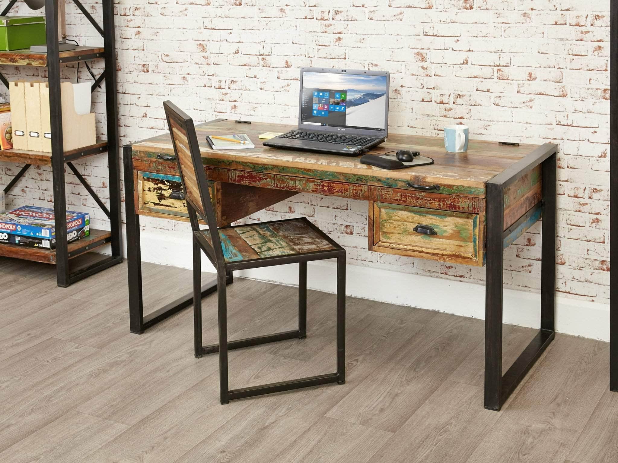 top frame and steel with revival products legs x wood img reclaimed desk