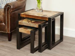 Asia Reclaimed Wood Nest of Tables