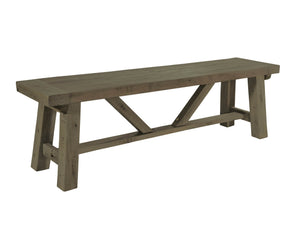 Dining benches made from dark toned reclaimed wood. Choice of small or large size.